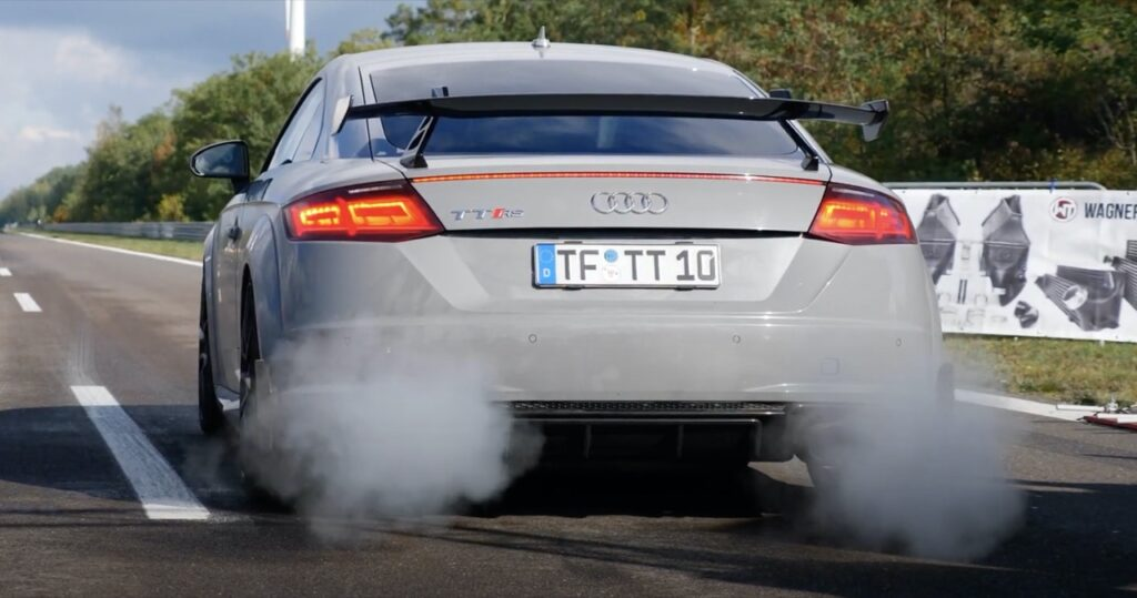 Audi TT RS: oltre 800 CV per questo tuning assurdo in Germania [VIDEO]