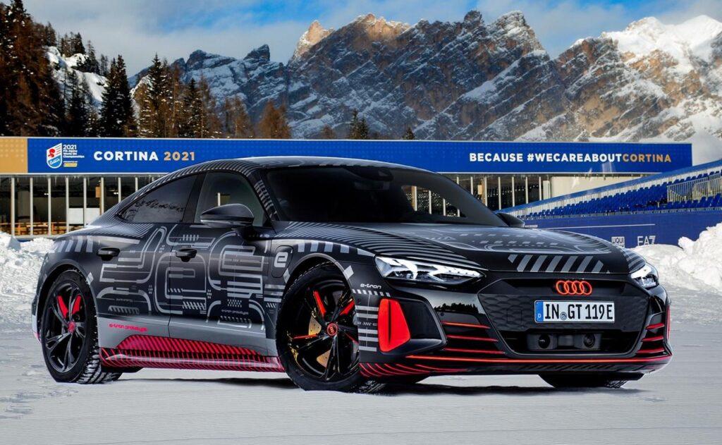 Audi RS e-tron GT 2021: il prototipo in mostra a Cortina [FOTO]