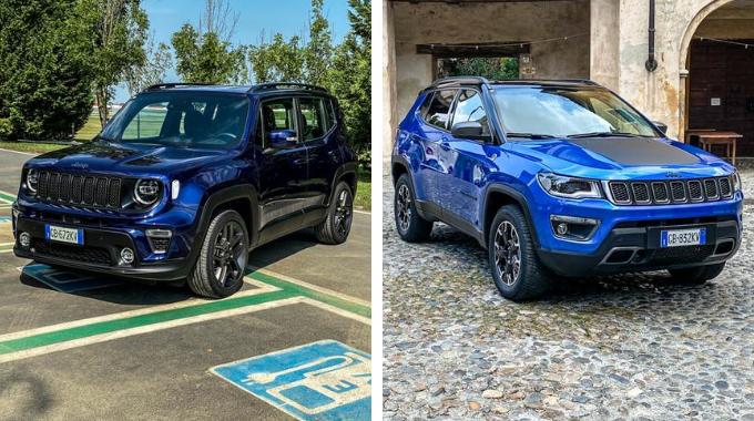 Jeep Renegade 4xe e Jeep Compass 4xe Plug-In hybrid: prezzo reale al netto di ecobonus
