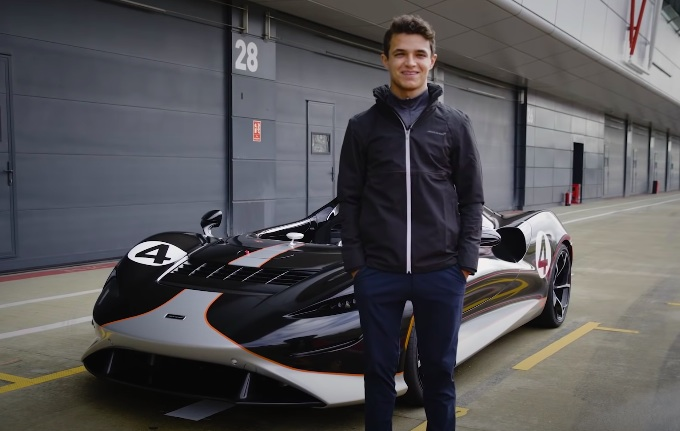 McLaren Elva: al volante c'è Lando Norris [VIDEO]