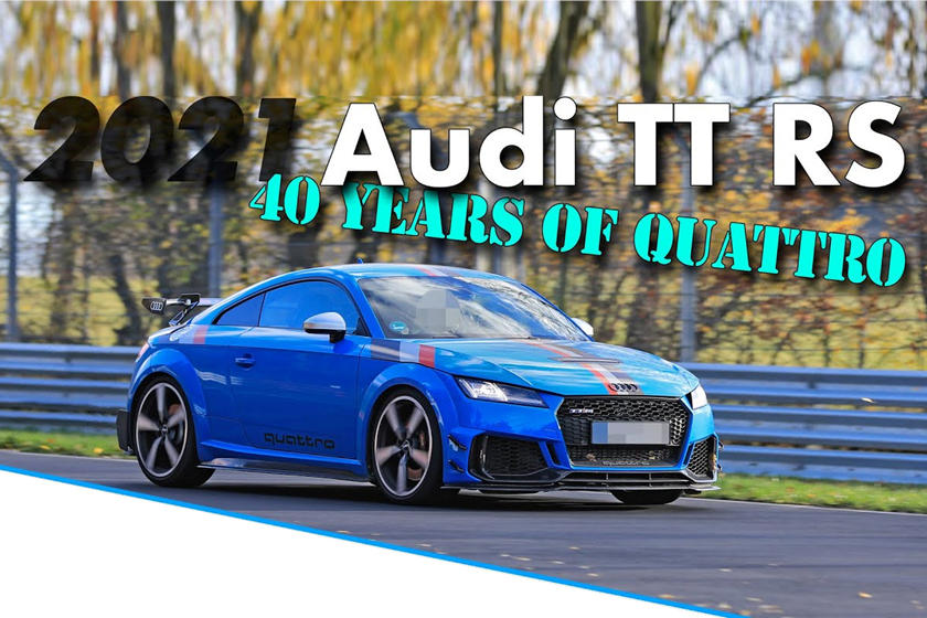 Audi TT RS 40 Years of Quattro: l'edizione celebrativa al Nurburgring  [VIDEO]