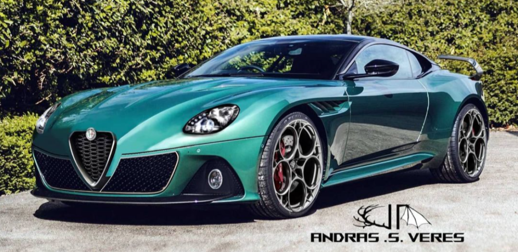 Alfa Romeo 8C: l'idea stilistica su base Aston Martin DBS Superleggera [RENDER]