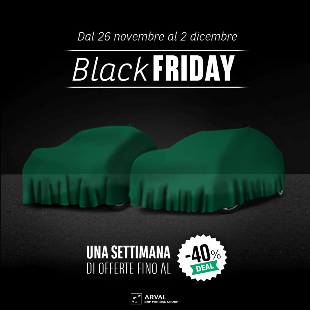 Arval Italia Black Friday: sconti sul noleggio auto fino al 40%