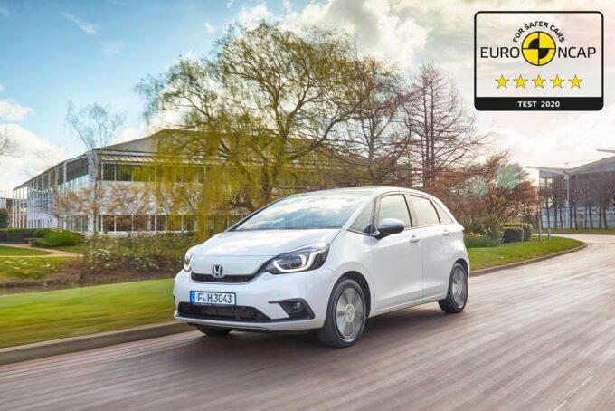 Honda Jazz ibrida conquista le cinque stelle Euro NCAP [VIDEO]