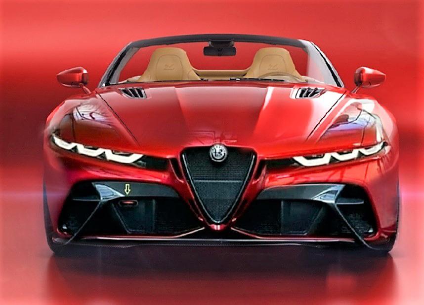 Alfa Romeo Spider: l'idea di una nuova, aggressiva Duetto [RENDER]