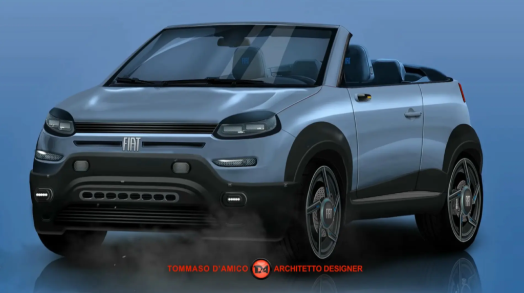 Nuova Fiat Panda: fantasiosa proposta stilistica in versione cabriolet [RENDER]