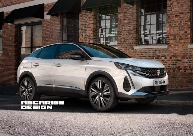 Peugeot 3008: la nuova generazione sarà anche coupé [RENDER]