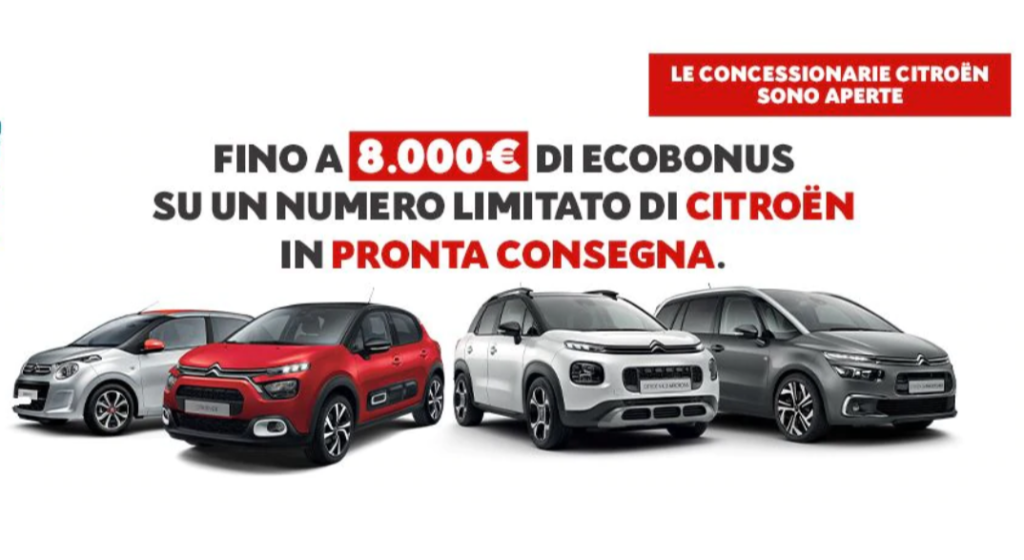 """Citroen: ecobonus fino a 8.000 euro con la promozione """"Best of Citroen"""""""