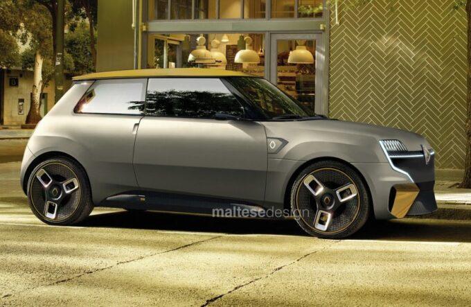 Renault 5 elettrica 2020 - Render