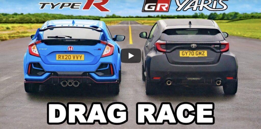 Honda Civic Type R vs Toyota GR Yaris: qual è l'hothatch più veloce? [VIDEO]
