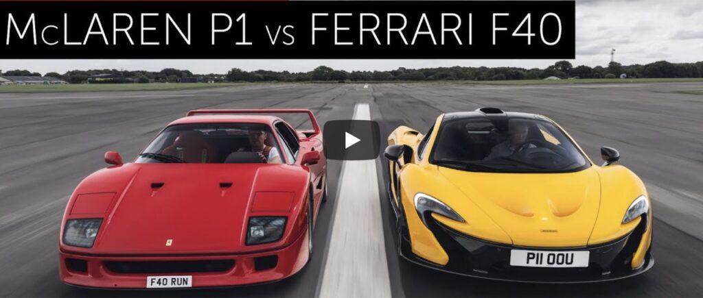 Ferrari F40 vs McLaren P1: la Drag Race tra passato e futuro, chi vincerà? [VIDEO]