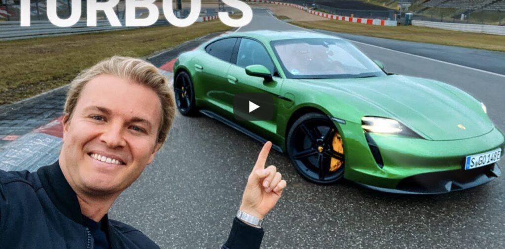 Porsche Taycan Turbo S: Nico Rosberg e il suo giro record al Nurburgring [VIDEO]