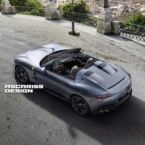 Ferrari Roma AscarissDesign: spider e con tanto cielo sopra la testa