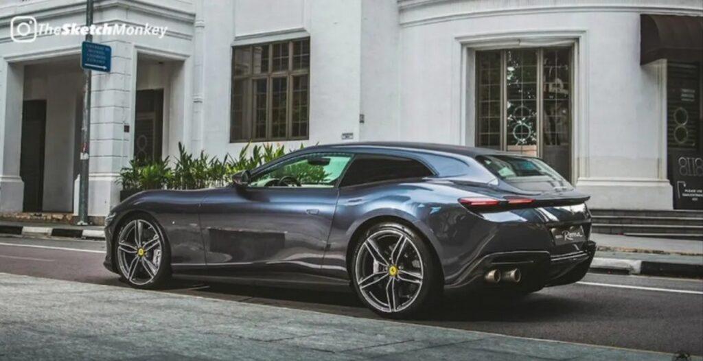 Ferrari Roma Shooting Brake il RENDER di TheSketchMonkey [VIDEO]