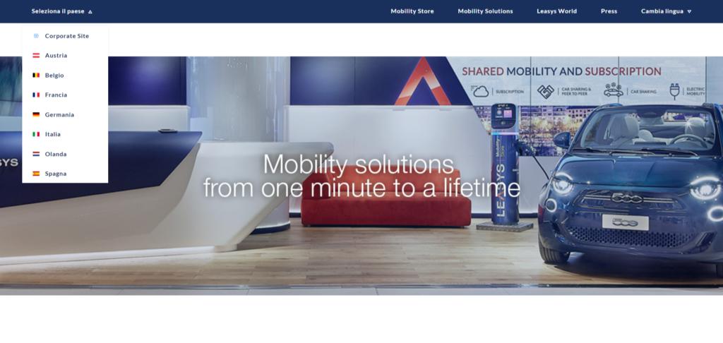 Leasys lancia Leasysrent.com, il nuovo portale che estende il noleggio a breve e medio termine in Europa