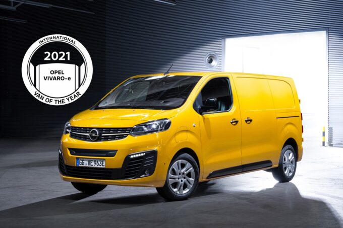 Opel Vivaro-e eletto International Van of the Year 2021