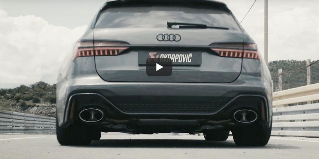 Audi RS6 2020: che SOUND con lo scarico Akrapovic in titanio [VIDEO]