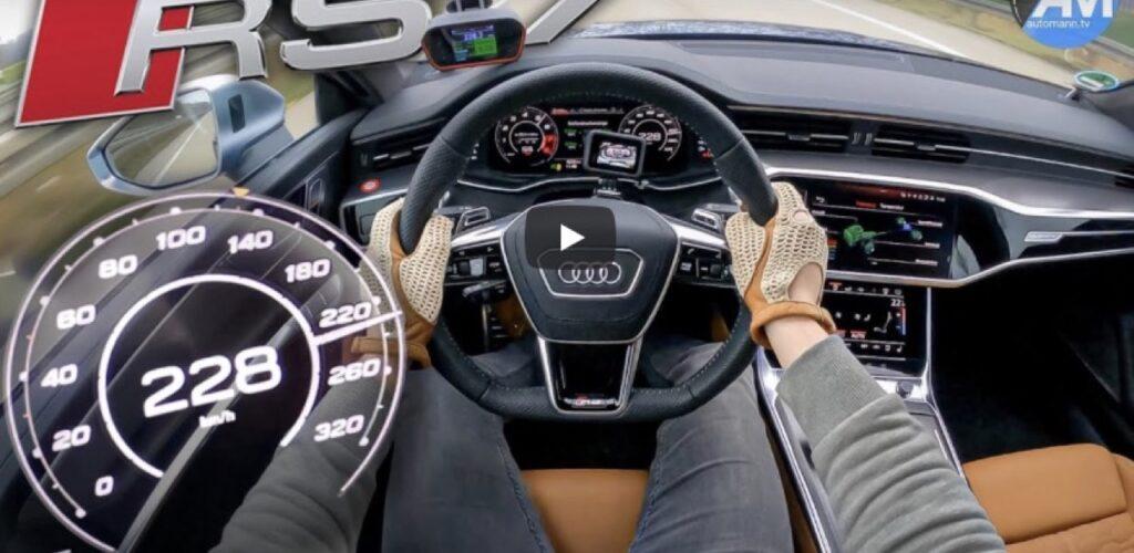 Audi RS7 2021: spingono al limite i suoi 600 CV sulle Autobahn tedesche [VIDEO]
