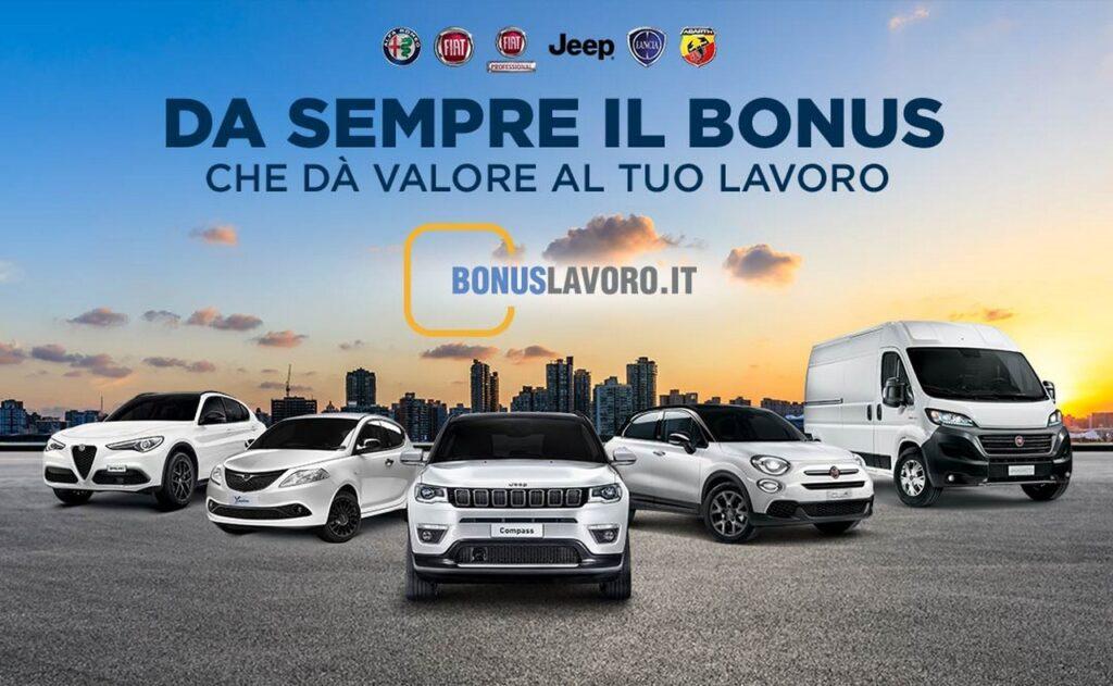 FCA promozioni e Bonus Lavoro per Alfa Romeo, Abarth, Jeep, Lancia, Fiat e Fiat Professional