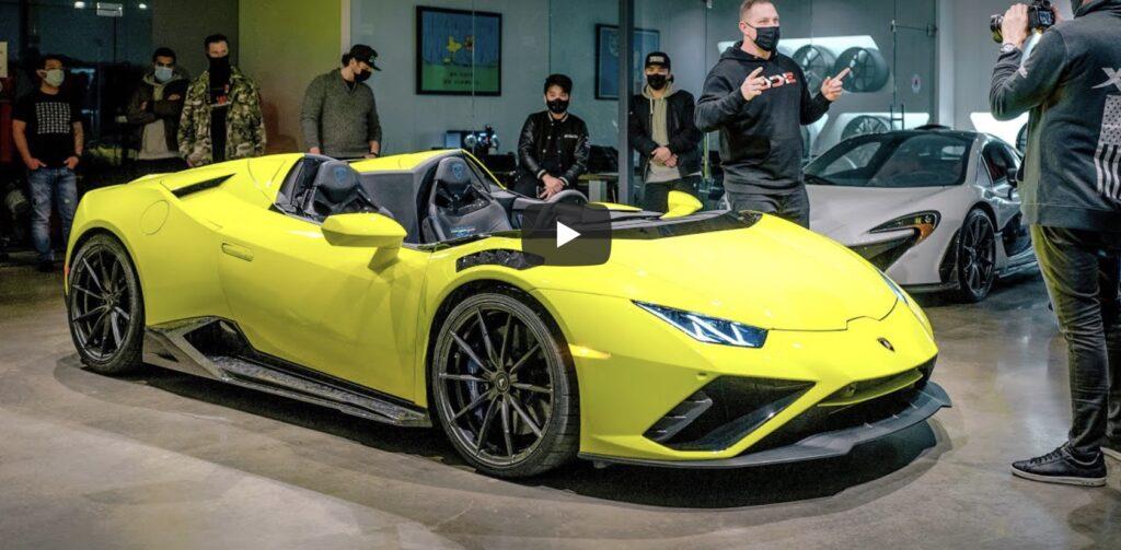 Uno Youtuber si crea la sua Lamborghini Huracan Evo Speedster da 840 CV, che coraggio! [VIDEO]