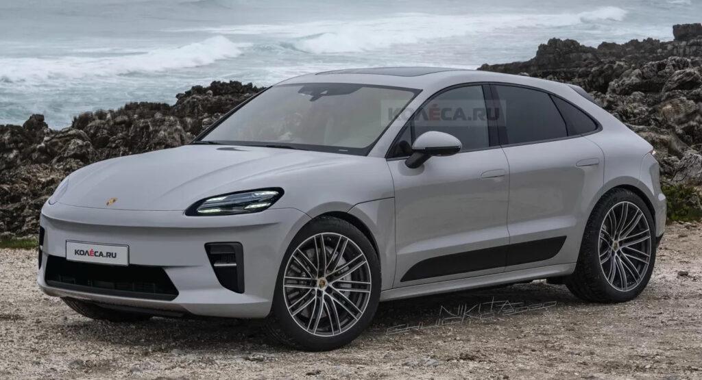 Porsche Macan EV 2022: sarà molto simile al RENDER di Kolesa