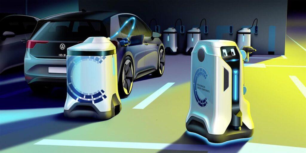 Volkswagen: ecco il robot mobile per la ricarica delle elettriche [VIDEO]