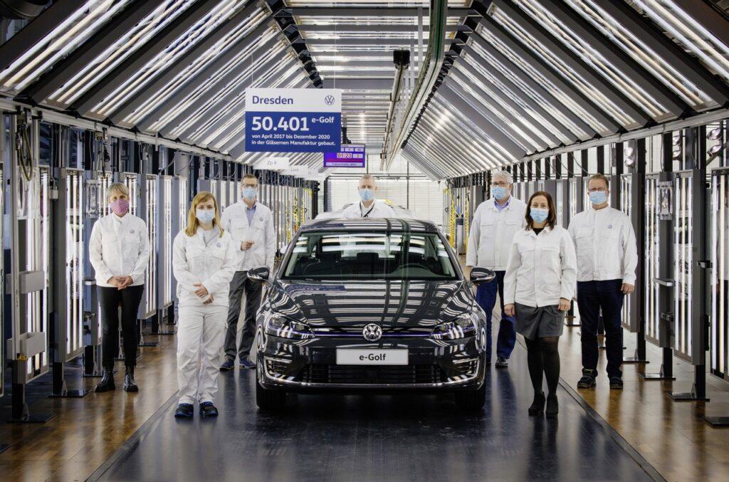 Volkswagen e-Golf: fine della produzione dell'elettrica