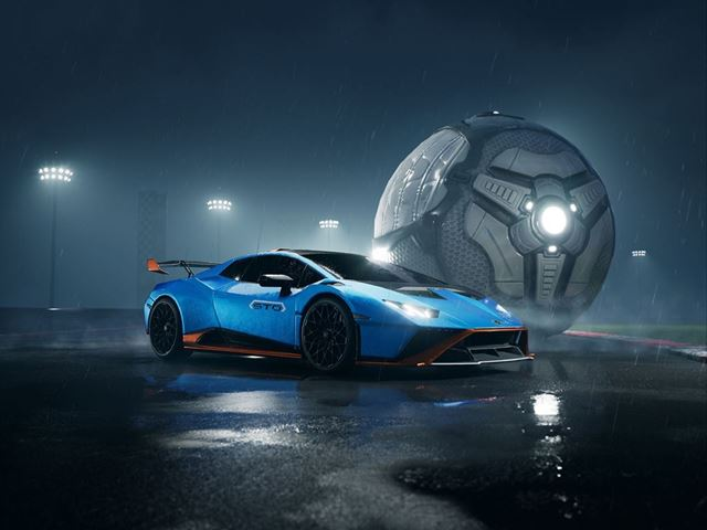 Lamborghini Huracán STO: il V10 da oggi romba in Rocket League [VIDEO]