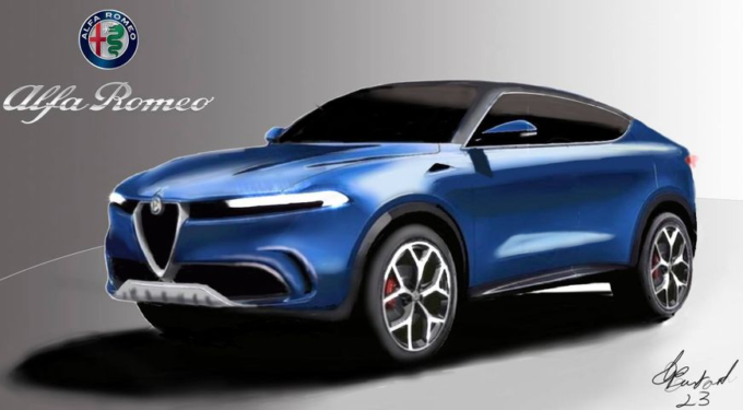Alfa Romeo Tonale Coupé: il futuro SUV compatto immaginato in chiave più sportiva [RENDER]
