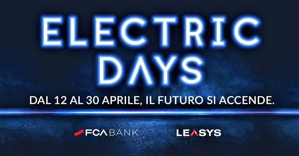 Electric Days 2021: offerte FCA e Leasys fino al 30 aprile