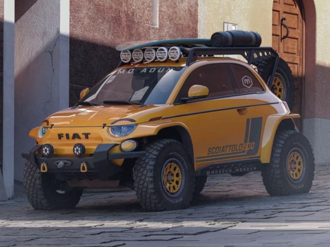 Fiat 500 Scoiattolo: l'idea per il fuoristrada più spinto [RENDER]