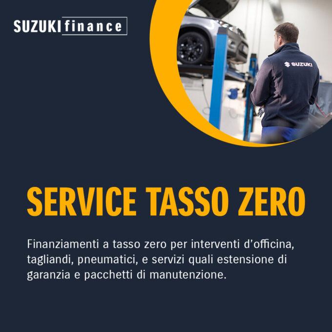 Suzuki lancia Service Tasso Zero, il finanziamento per far fronte a interventi d'officina e tagliandi