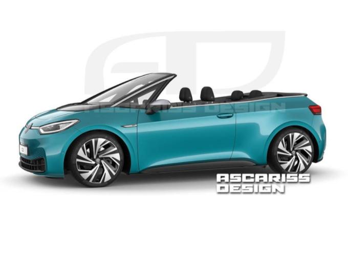 """Volkswagen ID.3 Cabrio: il RENDER che """"scopre"""" la city car elettrica"""