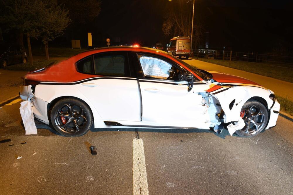 Alfa Romeo Giulia Quadrifoglio: distrutto un esemplare Alfa Romeo Racing