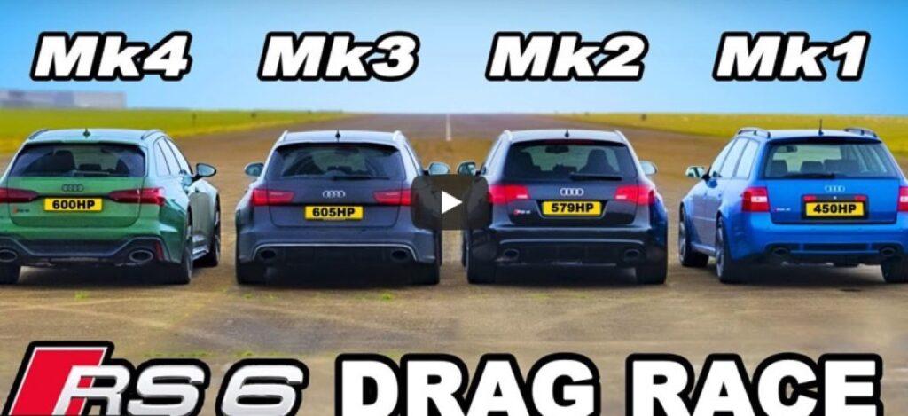 Audi RS6: la DRAG RACE tra le 4 generazioni della SW sportiva è servita [VIDEO]