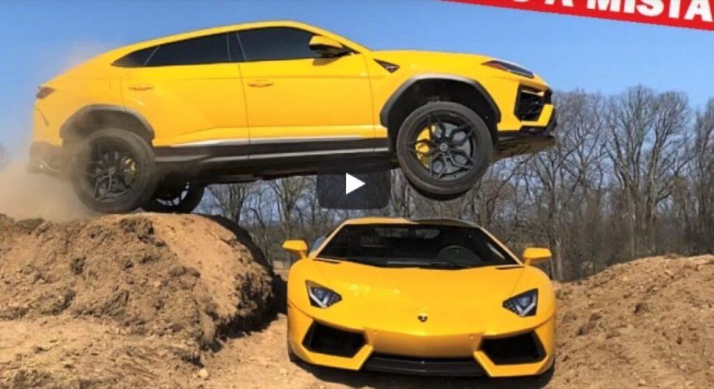 Prendi una Lamborghini Urus e salta sopra ad un'Aventador, è folle ma possibile [VIDEO]
