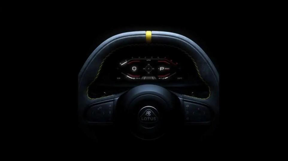 Lotus Emira: la prima immagine del volante della sportiva [TEASER]