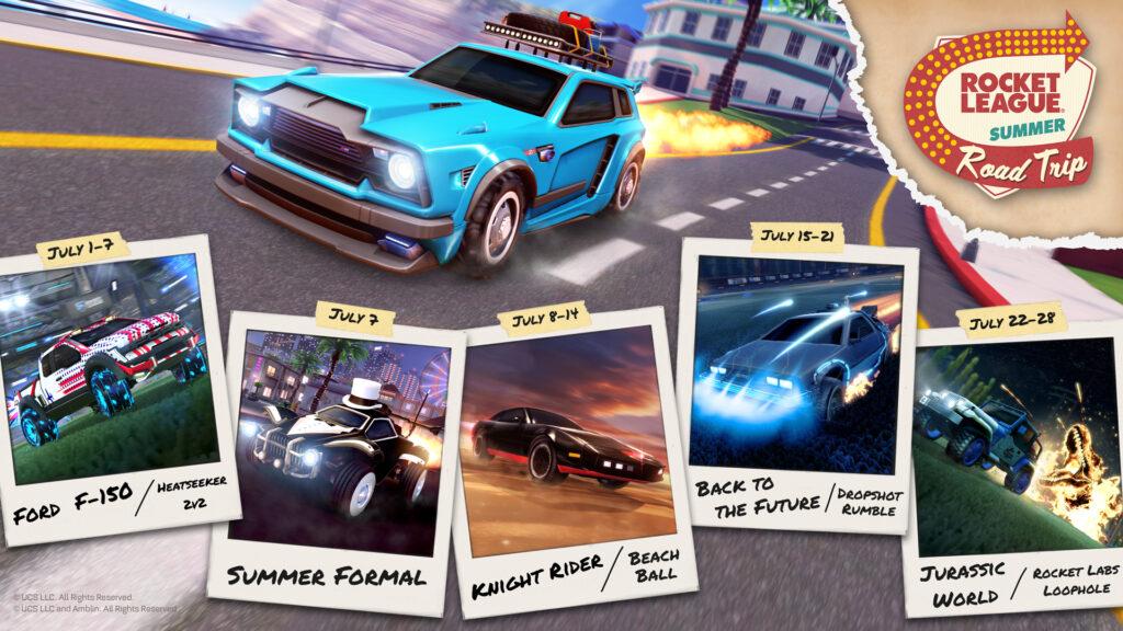 """Rocket League 2021: con il """"Summer Road Trip"""" torna la Jeep di Jurassic World e tanto altro"""