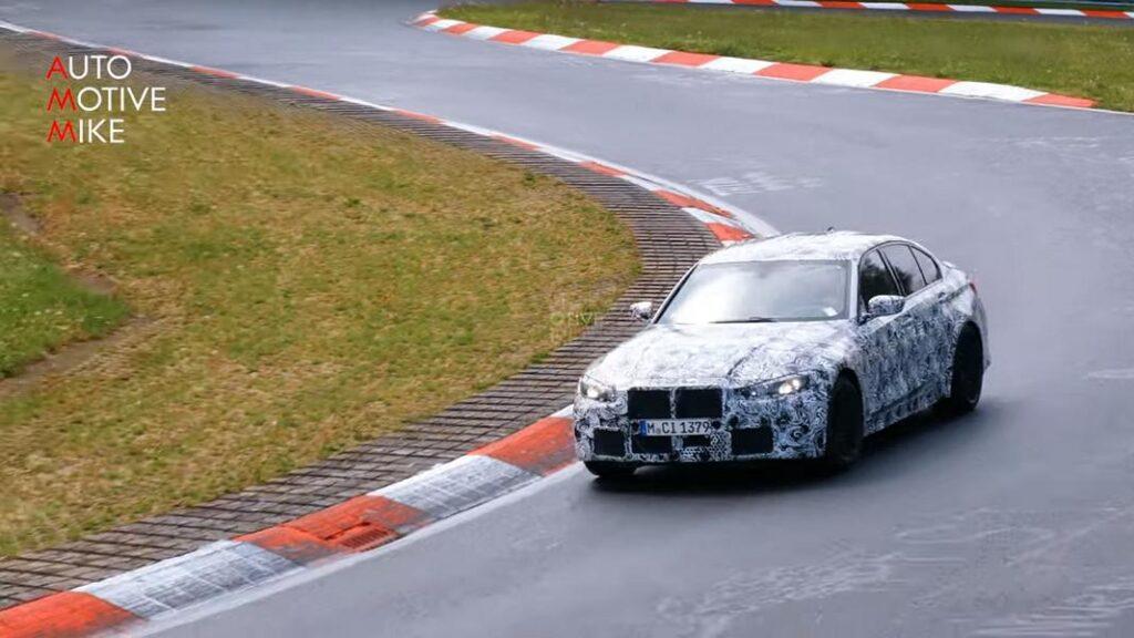 BMW M3 CS 2022: prime prove su strada al Nurburgring [FOTO E VIDEO SPIA]