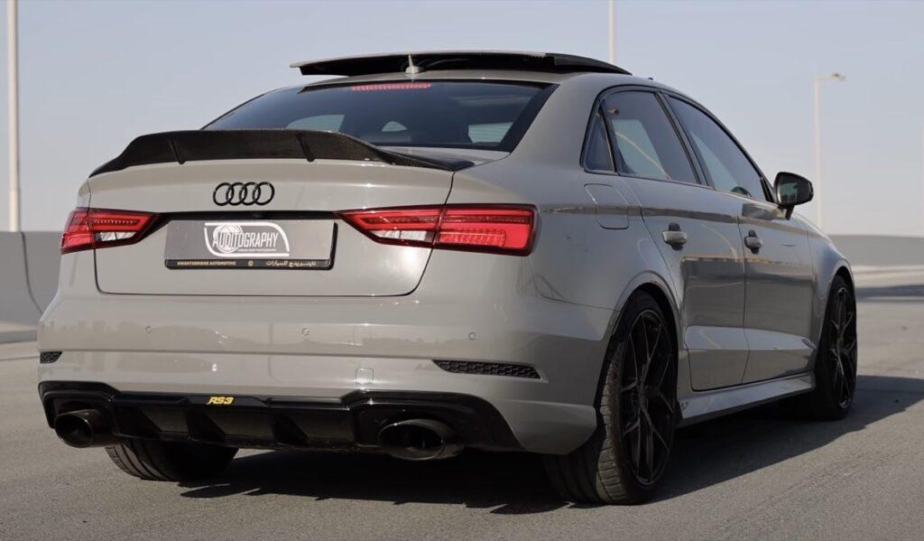 Audi RS3 Sedan: il tuning Stage 3 di APR la spinge a 576 CV, che scheggia [VIDEO]