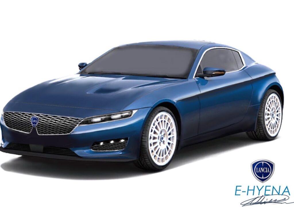 Lancia E-Hyena: immaginando una coupé elettrica per il futuro del marchio [RENDER]