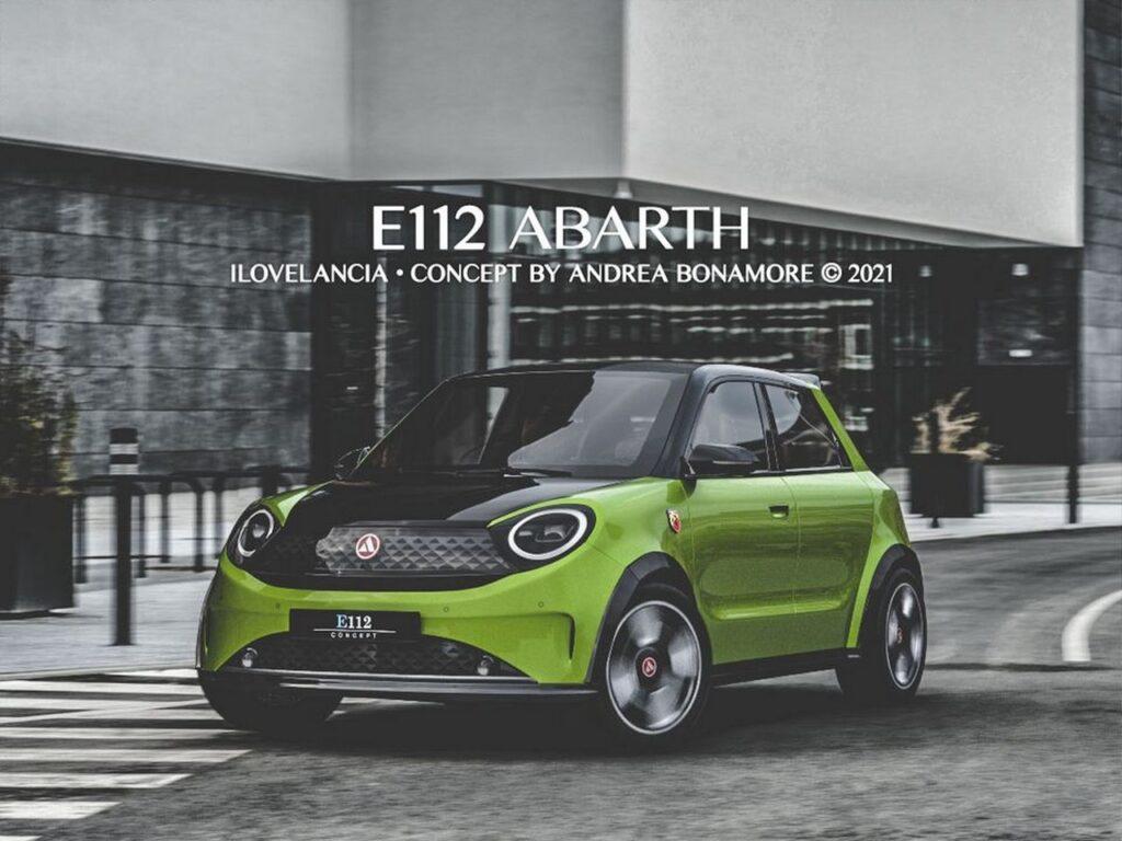 Lancia E112 Abarth: la concept car della Autobianchi A112 rivisitata in chiave moderna [RENDER]