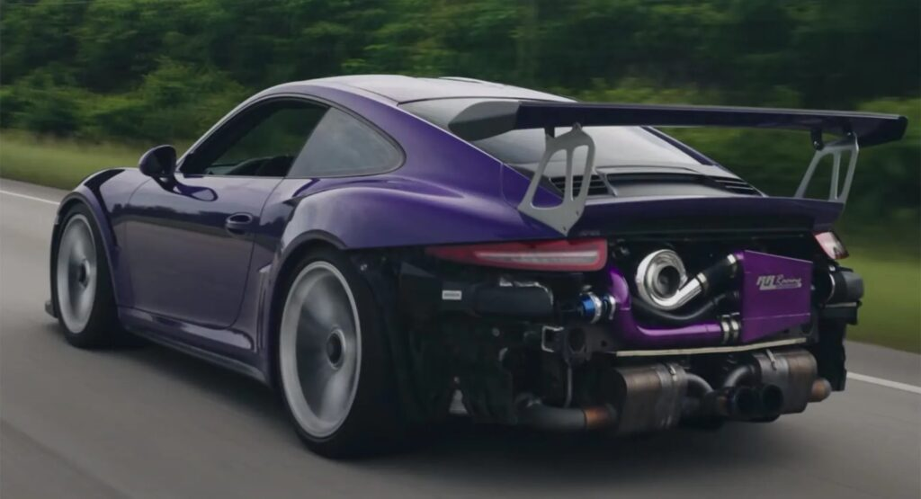Porsche 911 GT3 RS: ben 720 CV grazie all'introduzione del turbo [VIDEO]